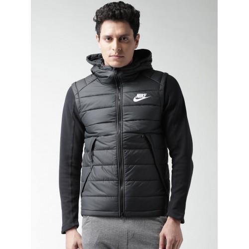 4e75e7444111 Buy Nike Black Padded Hooded NSW AV15 SYN HD Jacket online