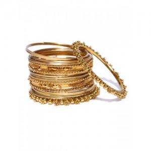 YouBella Set of 20 Antique Gold-Toned Bangles
