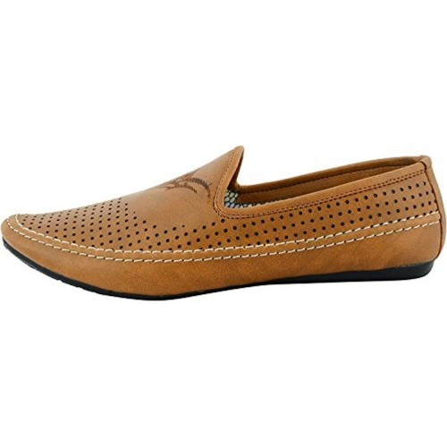 buy t rock brown slip on casual shoes looksgud in