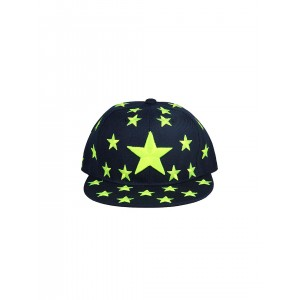 FabSeasons Navy Blue Embroidered Cap
