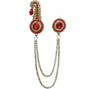 B-Fashionable Double Chain Round Bead Kilangi Brooch