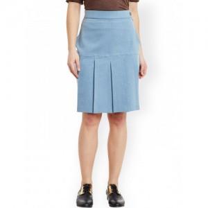 Rider Republic Light Blue Denim A-Line Skirt