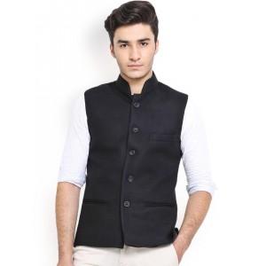 Shaftesbury London Black Nehru Jacket