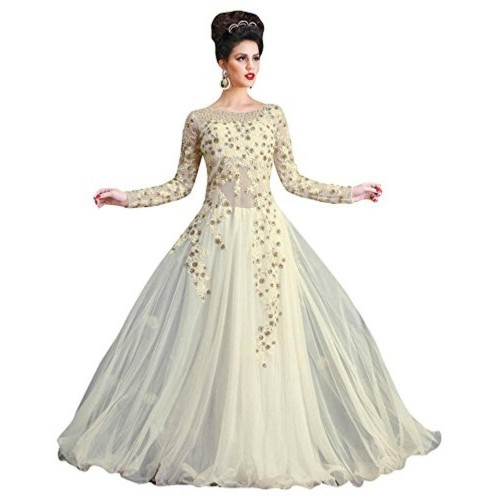 Divine International Gown(Divine International women net gown with Embroidery work)
