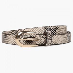 MAX Beige Snake Skin Pattern Belt