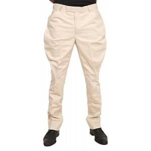 Horsler Cream Solid Slim Fit Jodhpuri Casual Trousers