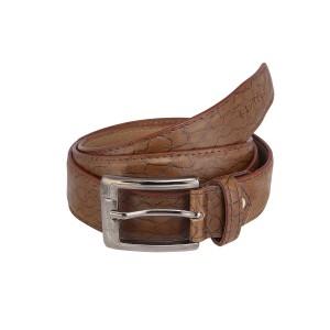 Laurels Brown Leather Belt