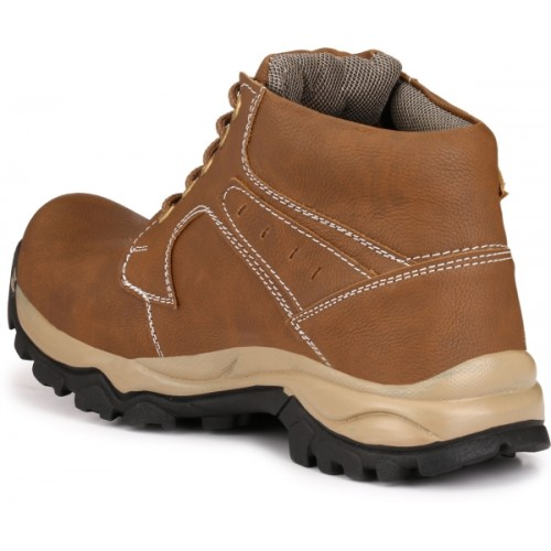 Knoos Men Brown Solid Lace-Up Boots