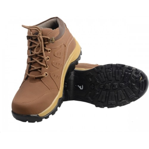 Knoos Men Tan Synthetic Leather Boots