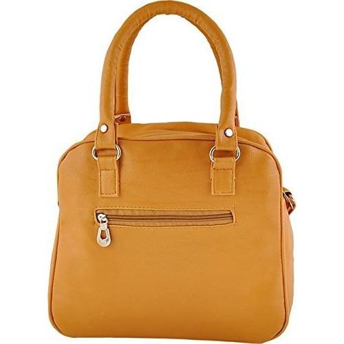 TipTop Mustard PU Leather Solid Handbags