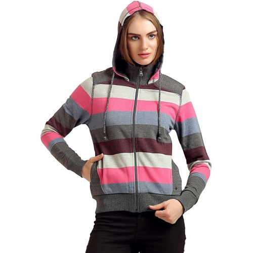 2f76e9634dabb4 Buy Moda Elementi Full Sleeve Striped Women's Sweatshirt online |  Looksgud.in