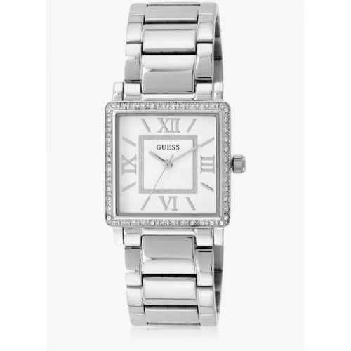 Guess Highline W0827l1 Silver/White Analog Watch