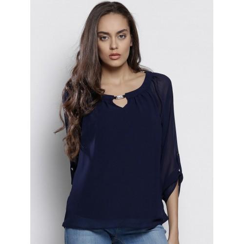 0312064de23916 Buy DOROTHY PERKINS Women Navy Blue Top online