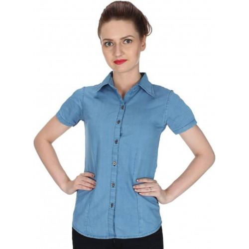 Buy Yasmin Creations Girls Womens Solid Casual Denim Light Blue