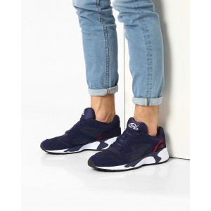 Puma Blue Synthetic Lace Up Prevail Sports Shoes