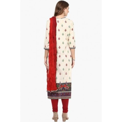 STOP Women's Printed Churidar Kurta Dupatta Set