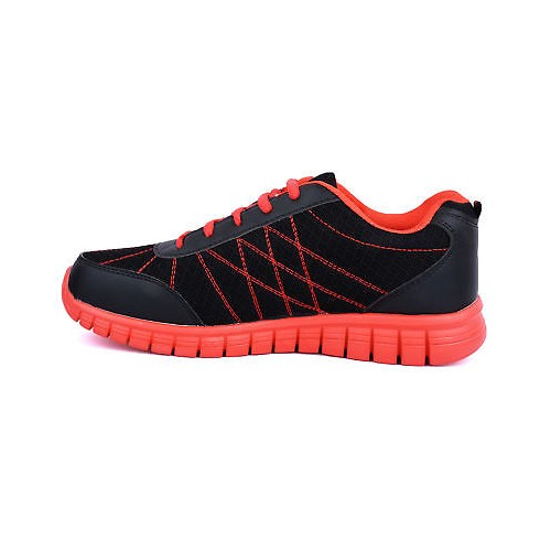 Action Shoes MenS Black,Red Lace-Up Sport Shoes