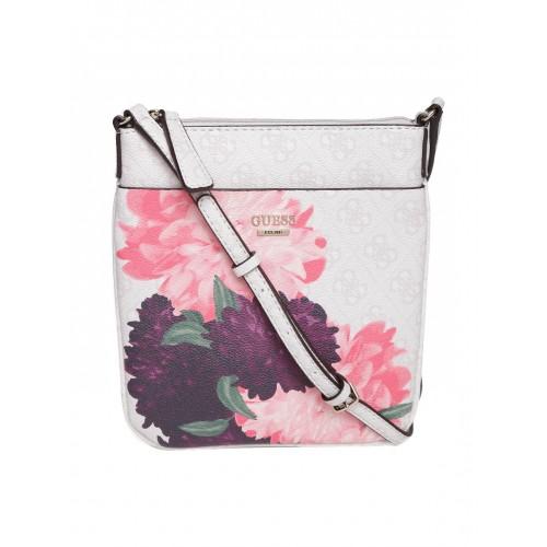 Buy GUESS Grey & Pink Floral Print Sling Bag online - Looksgud.in
