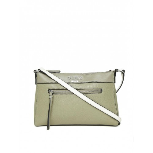 52cdb9a3489f Buy GUESS Olive Green Sling Bag online