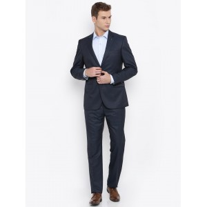 Raymond Blue Single-Breasted Contemporary Fit Formal Suit