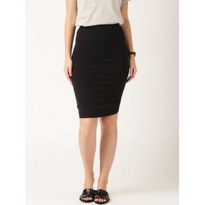 ETHER Black Pencil Skirt