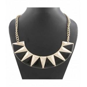Krafftwork Black Alloy Choker Antique Necklace
