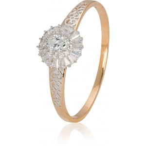Ring And Bangle Attached For Wedding Golden Color