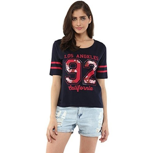 fb83ecd3820 ... Ajile By Pantaloons Ajile by Pantaloons Women s Crew Neck T-Shirt ...