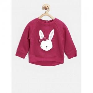 mothercare Infant Pink Cotton Elastane Applique Sweatshirt