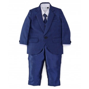 Babyhug Navy Blue Solid Party Wear Suit