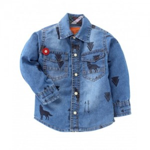 Little Kangaroos Blue Washed Denim Shirt