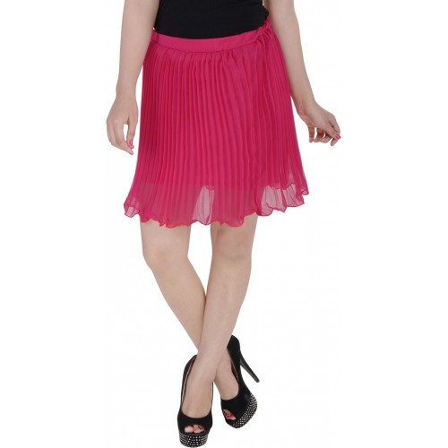 Soundarya Striped Women's Pleated Pink Skirt