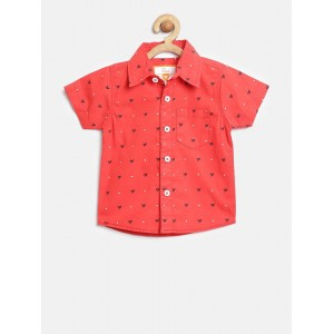 612 league Coral Printed Casual Shirt