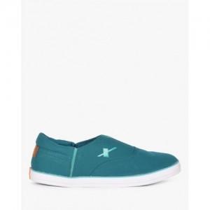 Sparx Men's Teal Canvas Sneakers (SM-255)