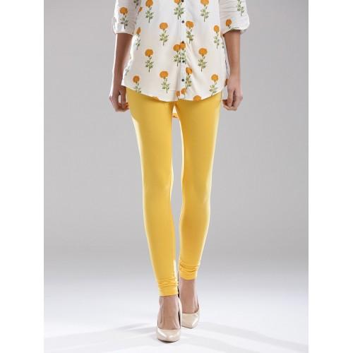W Yellow Churidar Leggings