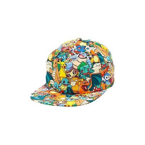 c354615cd7a Buy BIOWORLD Pokemon All Over Print Sublimated Snapback Cap Hat ...