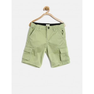 Gini and Jony Boys Olive Green Cargo Shorts