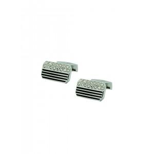 The Tie Hub Silver-Toned Rectangular Cufflinks