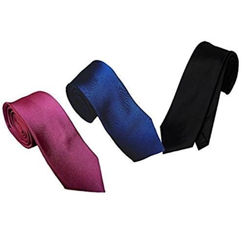 WSD WSD men's narrow black micro fiber tie