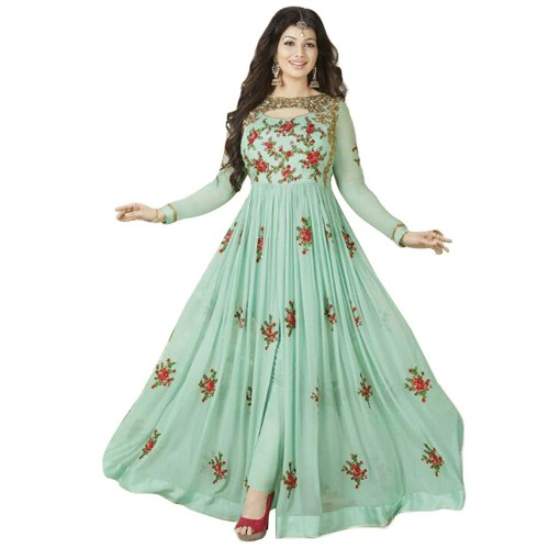 26feac2648 ... Designer Desk Mint Green Georgette Embroidered Salwar Suit ...