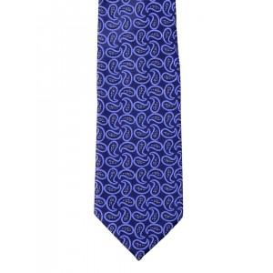 Alvaro Castagnino Blue Paisley Pattern Tie