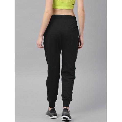 HRX by Hrithik Roshan Women Black Skinny Fit Jogger Track Pants