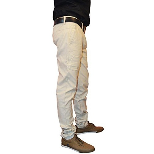 Nation Polo Club Nation Polo Club Men's Slim Fit Solid Linen Blend Beige Color Trouser