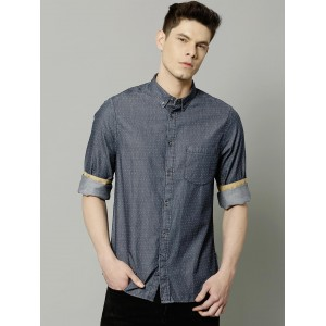 French Connection Men Navy Blue Printed Casual Shirt