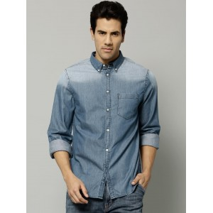 French Connection Blue Denim Casual Shirt