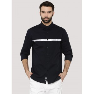 Blue Saint Blue Smart Fit Contrast Stripe Shirt