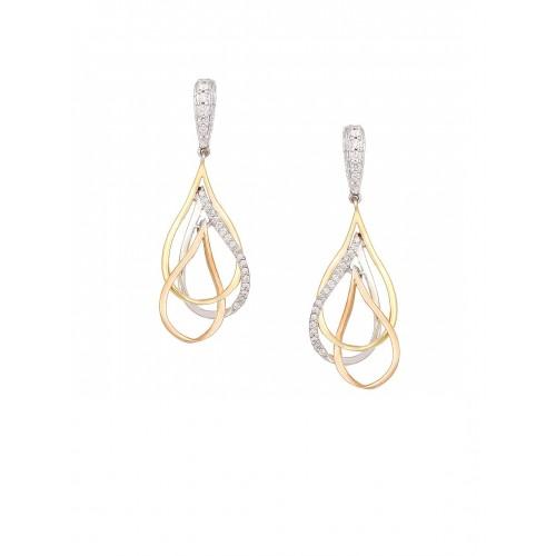 Mia By Tanishq 4 13 G 14 Karat Gold Precious Earrings With Diamonds