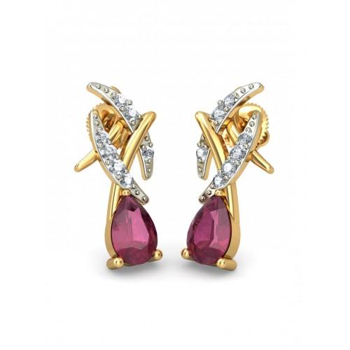 52c728bca ... Bluestone 1.945 g 18-Karat Gold Aspira Earrings with Diamonds & Rubies  ...
