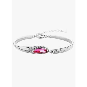 Shining Diva Pink Alloy Bracelet for Women