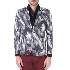 Jack & Jones Gray Linen Casual Slim Fit Blazer